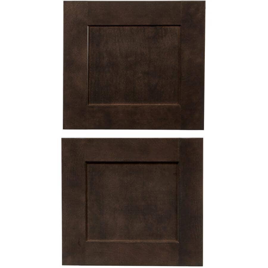 CUTLER KITCHEN & BATH:Porte d'armoire-pont Midnight, 16,5 po x 15 po, Paquet de 2