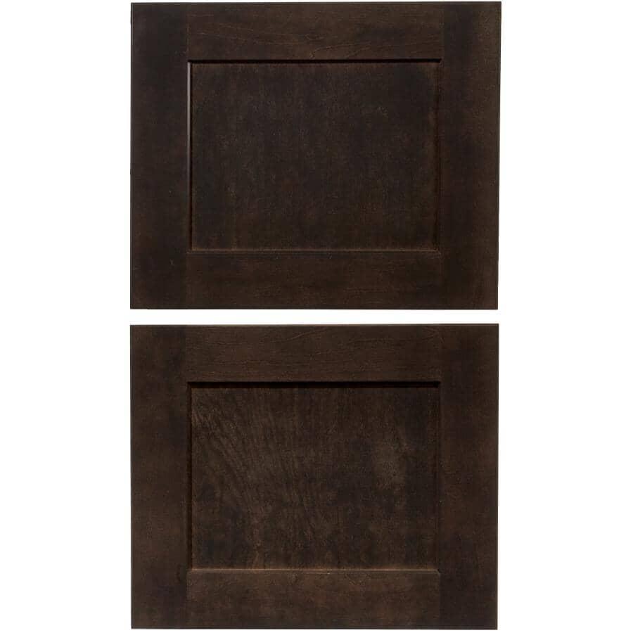 CUTLER KITCHEN & BATH:Porte d'armoire-pont Midnight, 18 po x 15 po, Paquet de 2