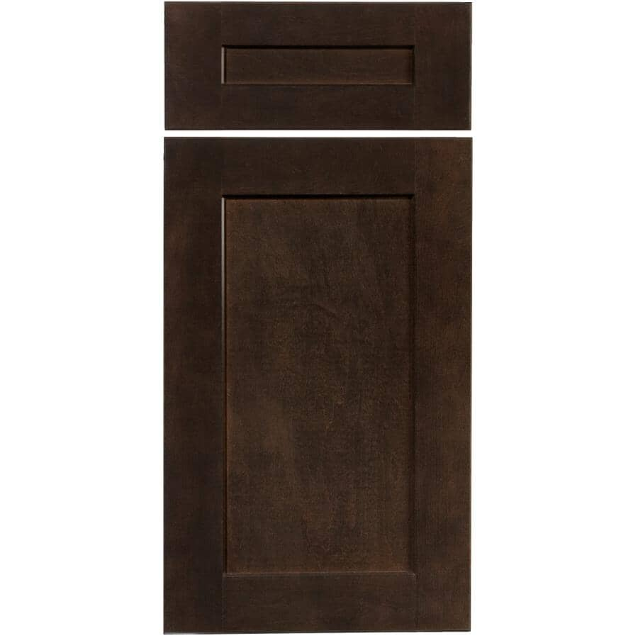 CUTLER KITCHEN & BATH:1 Porte et 1 Façade de tiroir pour armoire Midnight de 15 po