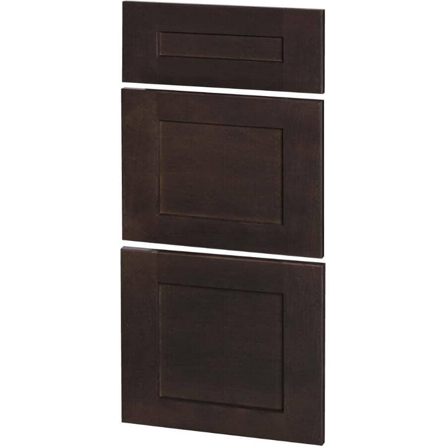 CUTLER KITCHEN & BATH:3 Façades de tiroir pour armoire Midnight de 18 po