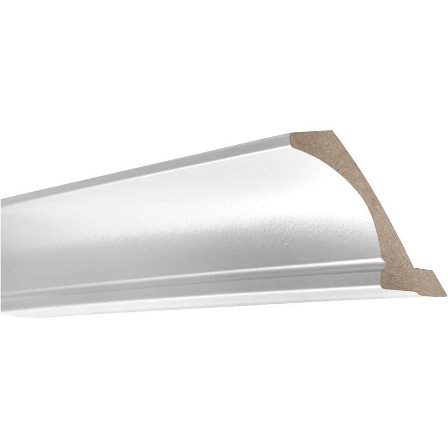 "CUTLER KITCHEN & BATH:Veneer Crown Moulding - White, 108"""