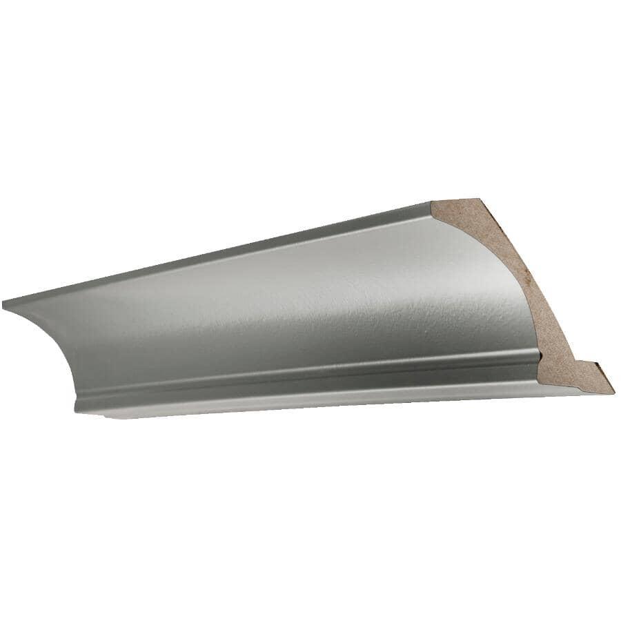"CUTLER KITCHEN & BATH:Veneer Crown Moulding - Grey, 108"""