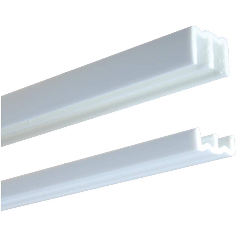 KNAPE & VOGT:Rail en plastique de 1/4 x 48 po, blanc