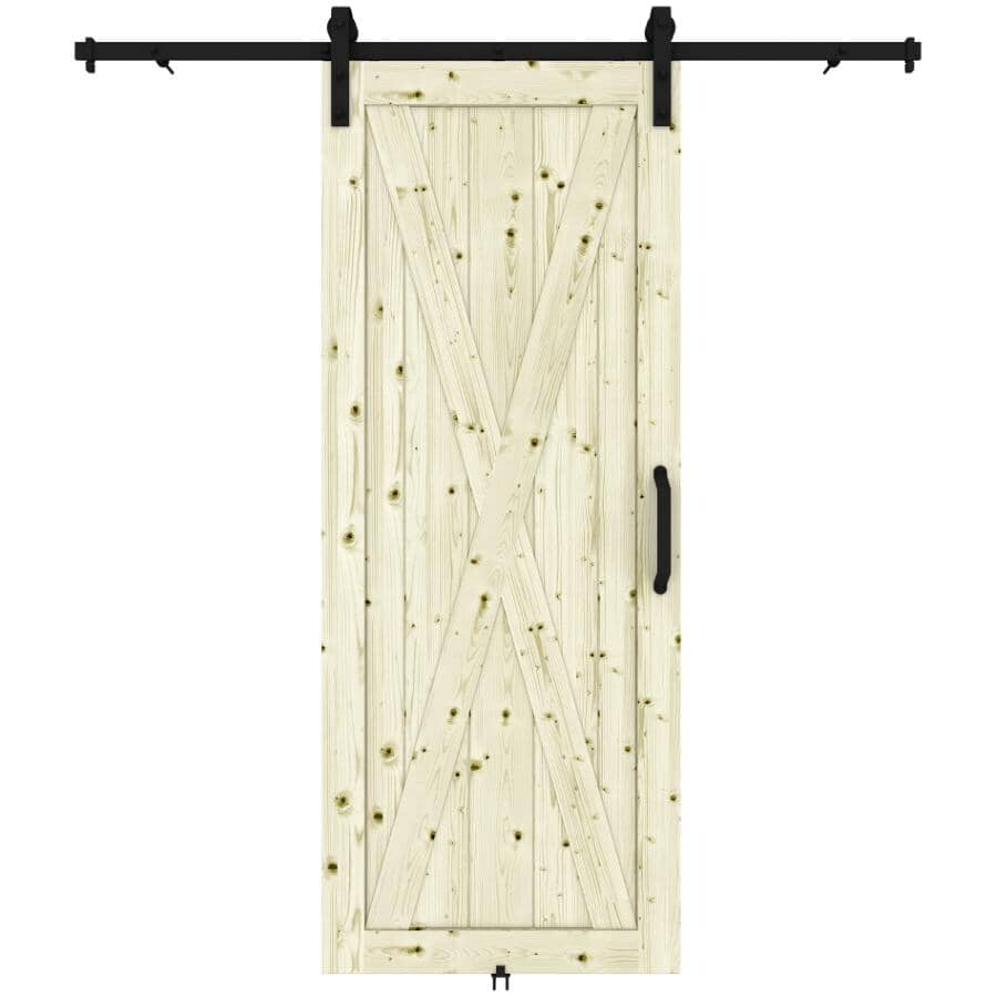 """COLONIAL ELEGANCE:Station Barn Door - with Hardware, 37"""" x 84"""""""
