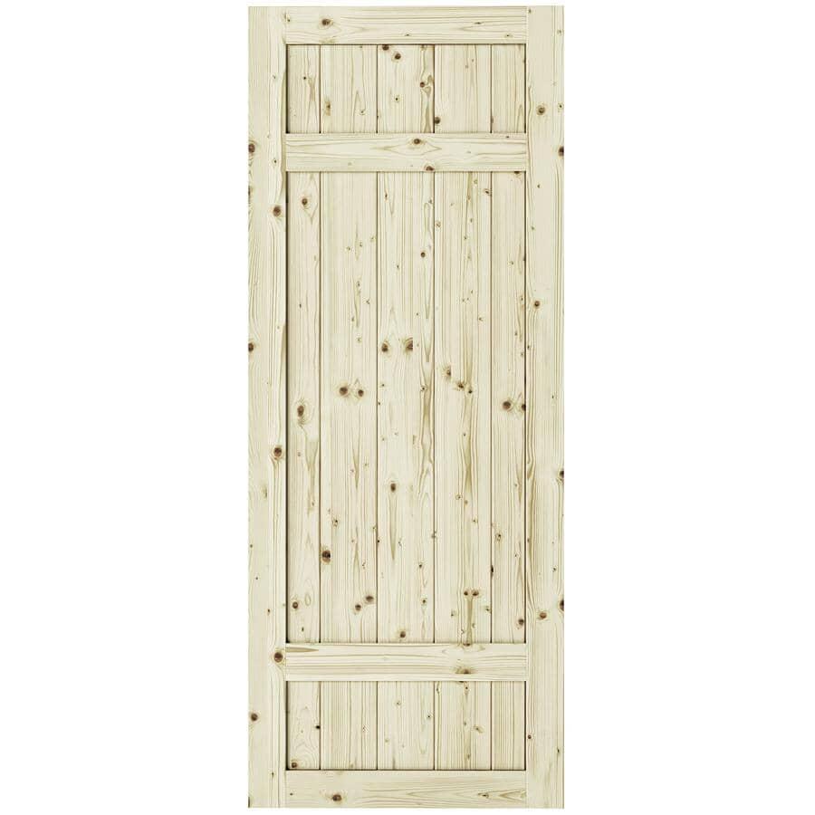 """COLONIAL ELEGANCE:Barrel Pine Barn Door - 33"""" x 84"""""""