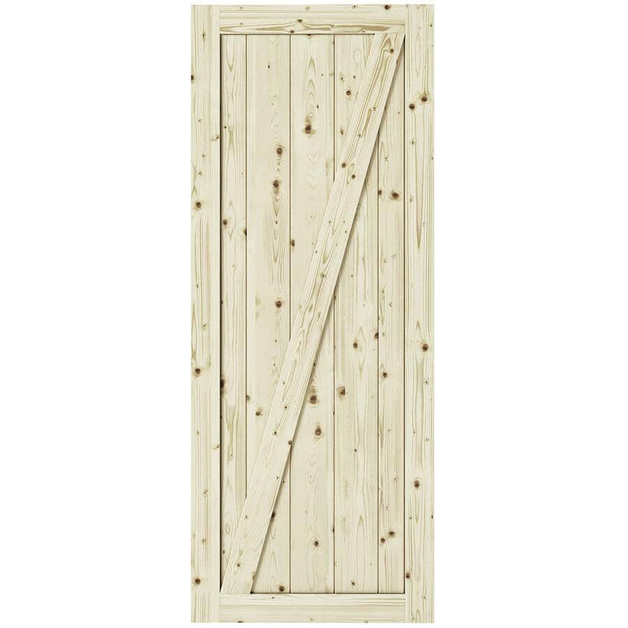 """COLONIAL ELEGANCE:Chalet Pine Barn Door - 33"""" x 84"""""""