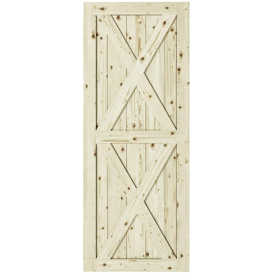 "COLONIAL ELEGANCE:Magnolia Pine Barn Door - 33"" x 84"""