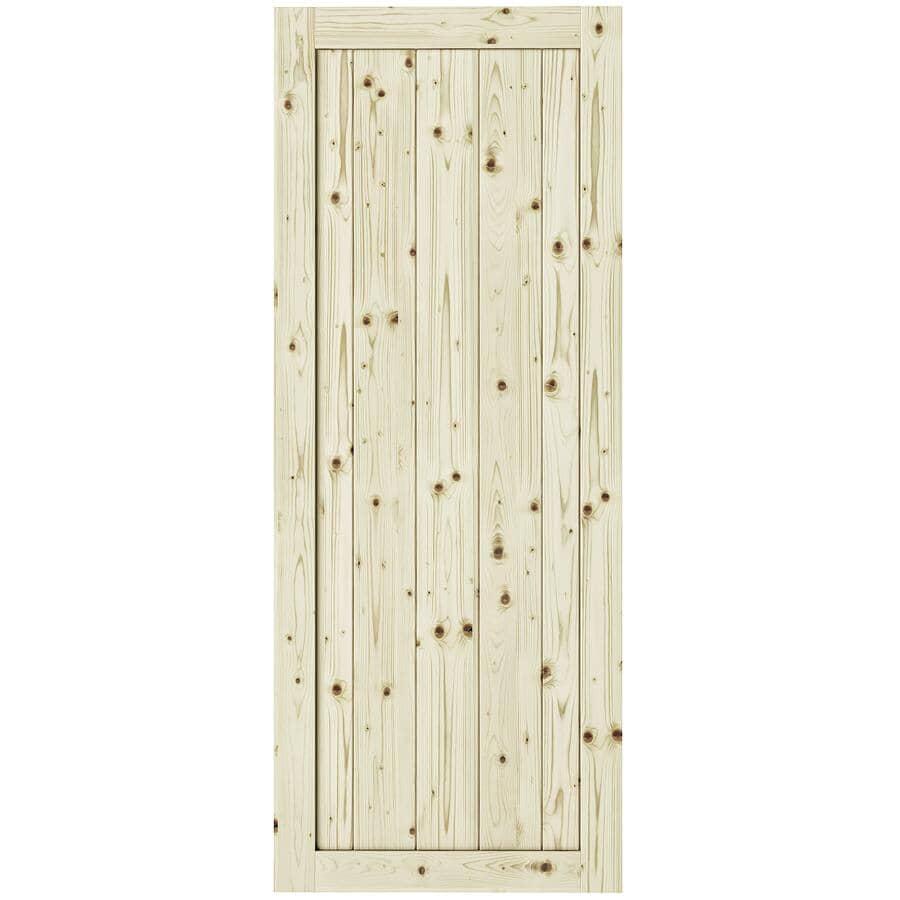 "COLONIAL ELEGANCE:Rustic Pine Barn Door - 26"" x 84"""