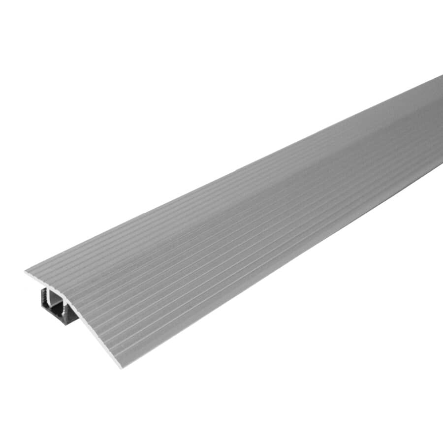 MD BUILDING PRODUCTS:3' Satin Silver Transition Reducer Floor Moulding