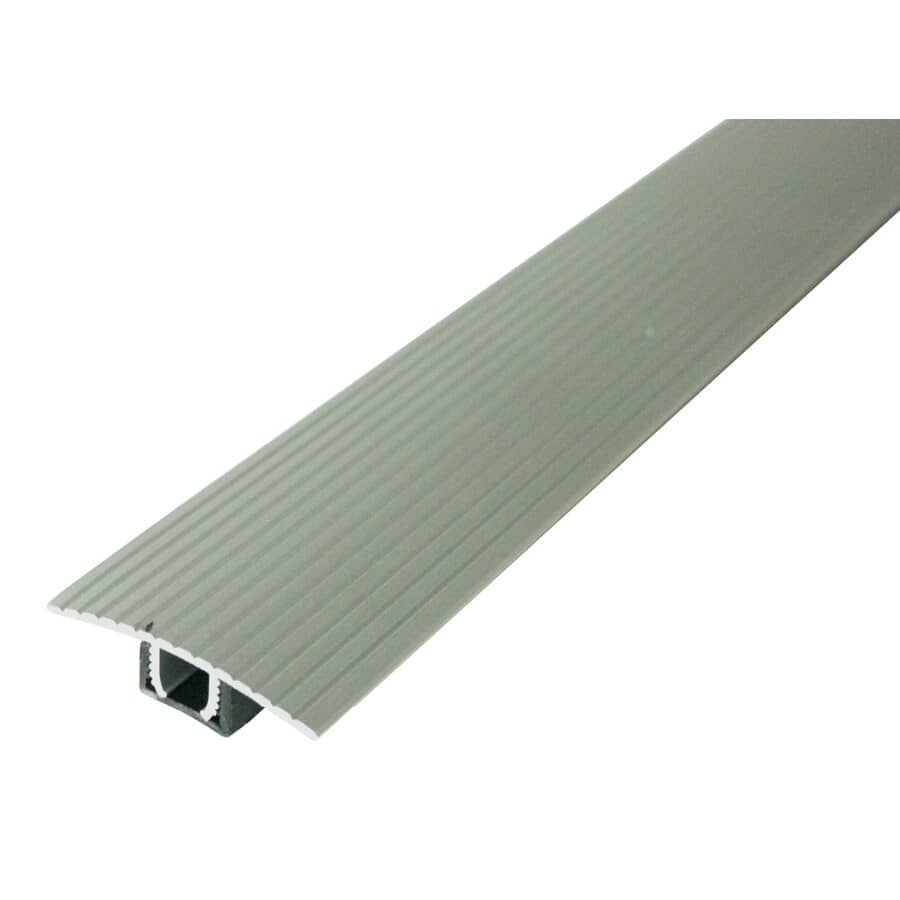 MD BUILDING PRODUCTS:3' Satin Silver Laminate Floor T-Moulding