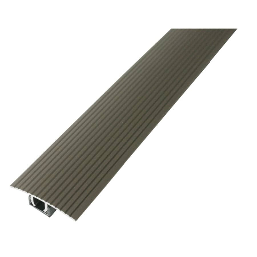 MD BUILDING PRODUCTS:3' Satin Nickel Laminate Floor T-Moulding