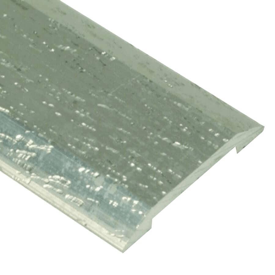 """SHUR-TRIM:1-1/4"""" x 6' Hammered Silver Seambinder Edging"""