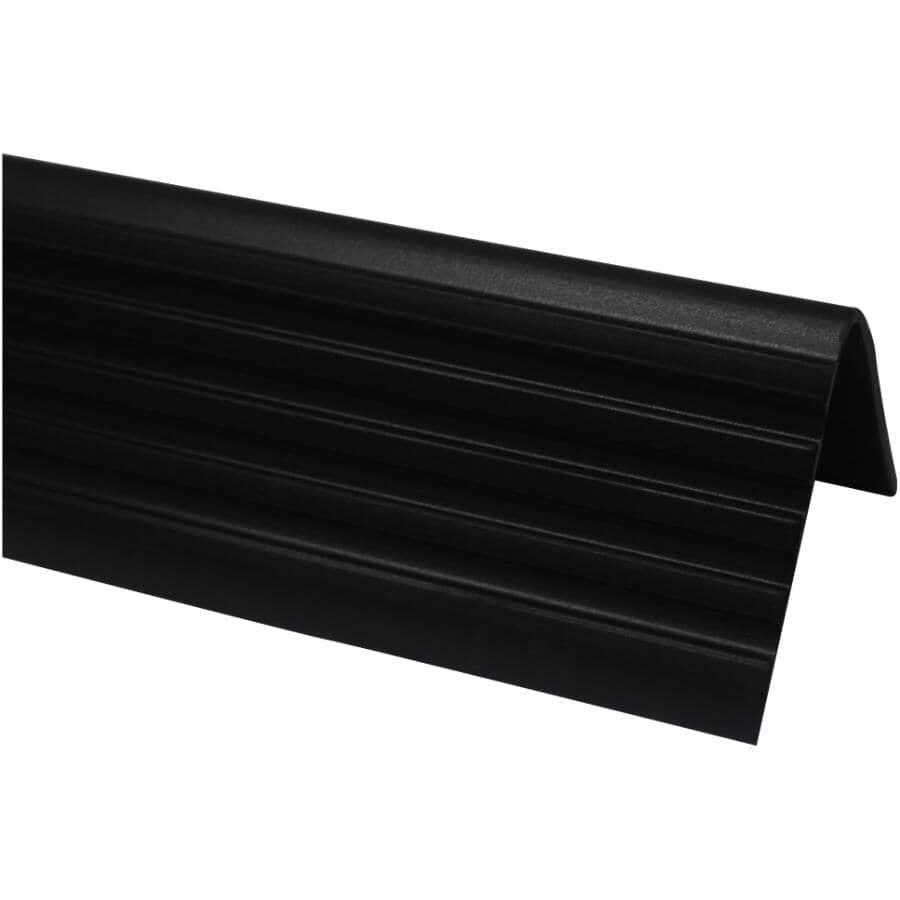 SHUR-TRIM:Moulure de nez de marche noire de 3 pi