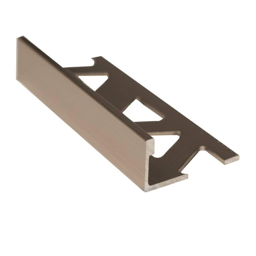 """SHUR-TRIM:3/8"""" x 8' Titanium Aluminum Tile Edging"""