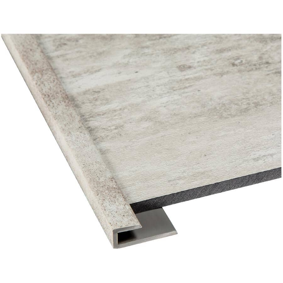 """ACOUSTIC CEILING PRODUCTS:Palisade Collection PVC J-Trim Edging - Wind Gust, 94"""""""