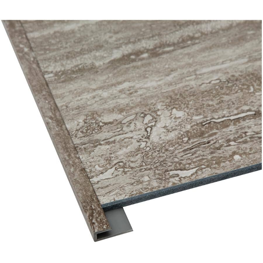 """ACOUSTIC CEILING PRODUCTS:Palisade Collection PVC J-Trim Edging - Grecian Earth, 94"""""""