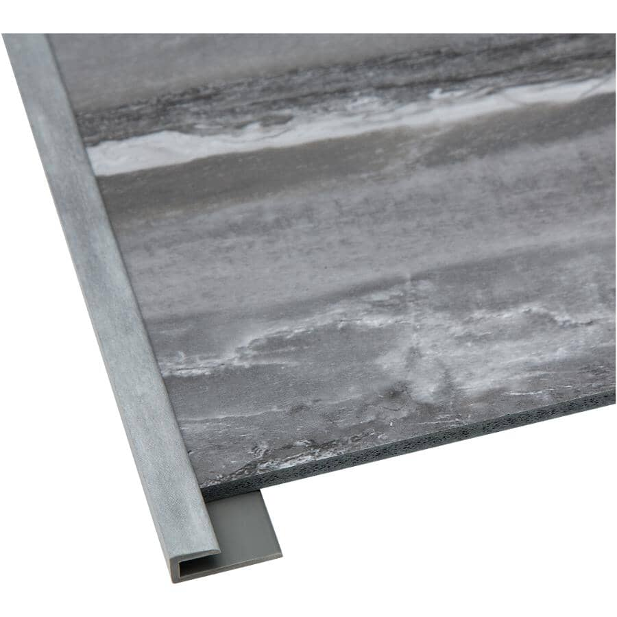 """ACOUSTIC CEILING PRODUCTS:Palisade Collection PVC J-Trim Edging - Hermitage Granite, 94"""""""