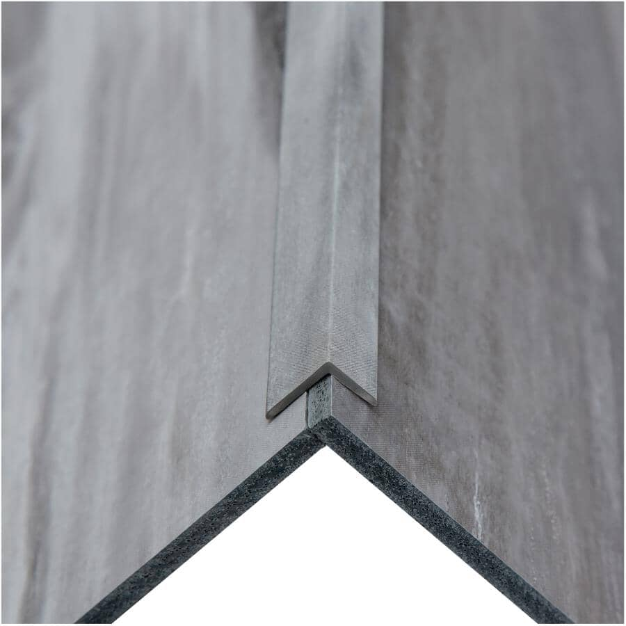 """ACOUSTIC CEILING PRODUCTS:Palisade Collection PVC L-Trim Edging - Hermitage Granite, 94"""""""