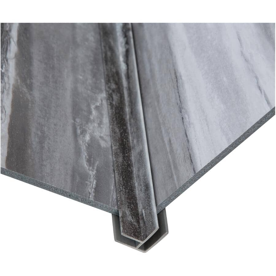 """ACOUSTIC CEILING PRODUCTS:Palisade Collection PVC Inside Corner Edging - Hermitage Granite, 94"""""""