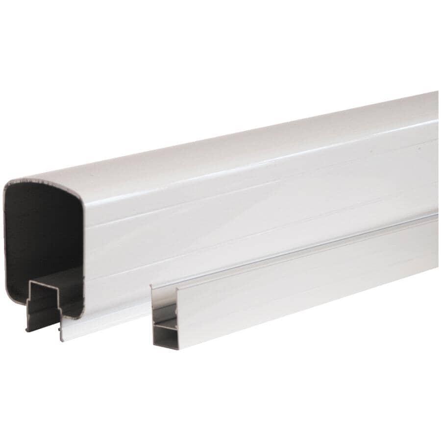 REGAL IDEAS:8' O/C Aluminum Top & Bottom Rails - White