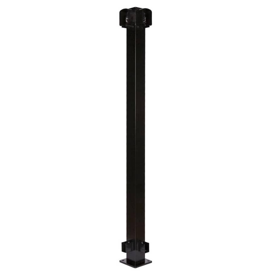 """REGAL IDEAS:2-1/4"""" x 2-1/4"""" Black Aluminum Railing Corner Post"""