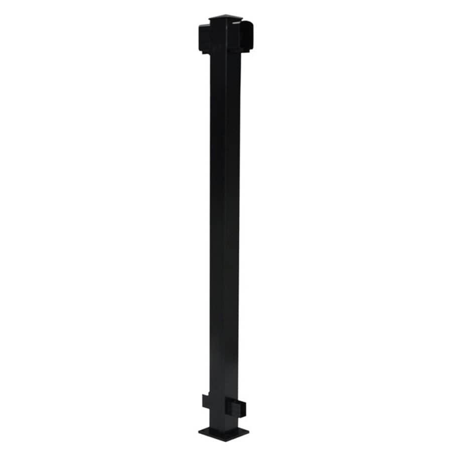 """REGAL IDEAS:2-1/4"""" x 2-1/4"""" Black Aluminum Railing Inline Post"""