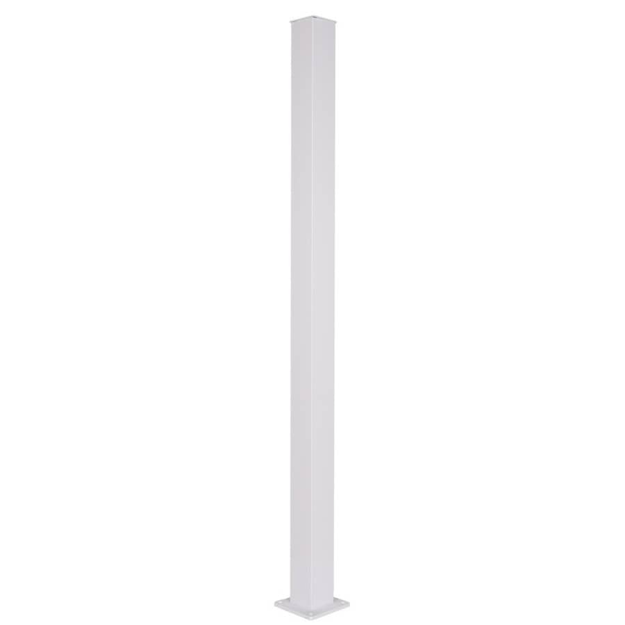 "REGAL IDEAS:2-1/4"" x 2-1/4"" White Aluminum Railing Stair Post"