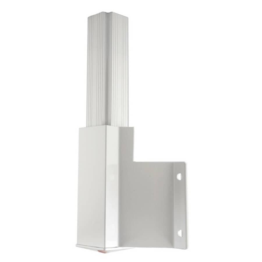 REGAL IDEAS:White Outside Corner Side Mount Post Bracket