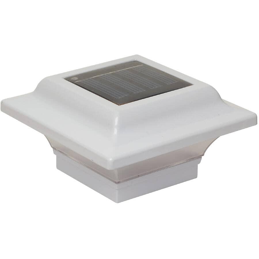 """CLASSY CAPS:2.5"""" x 2.5"""" Solar White Imperial Aluminum Post Cap"""