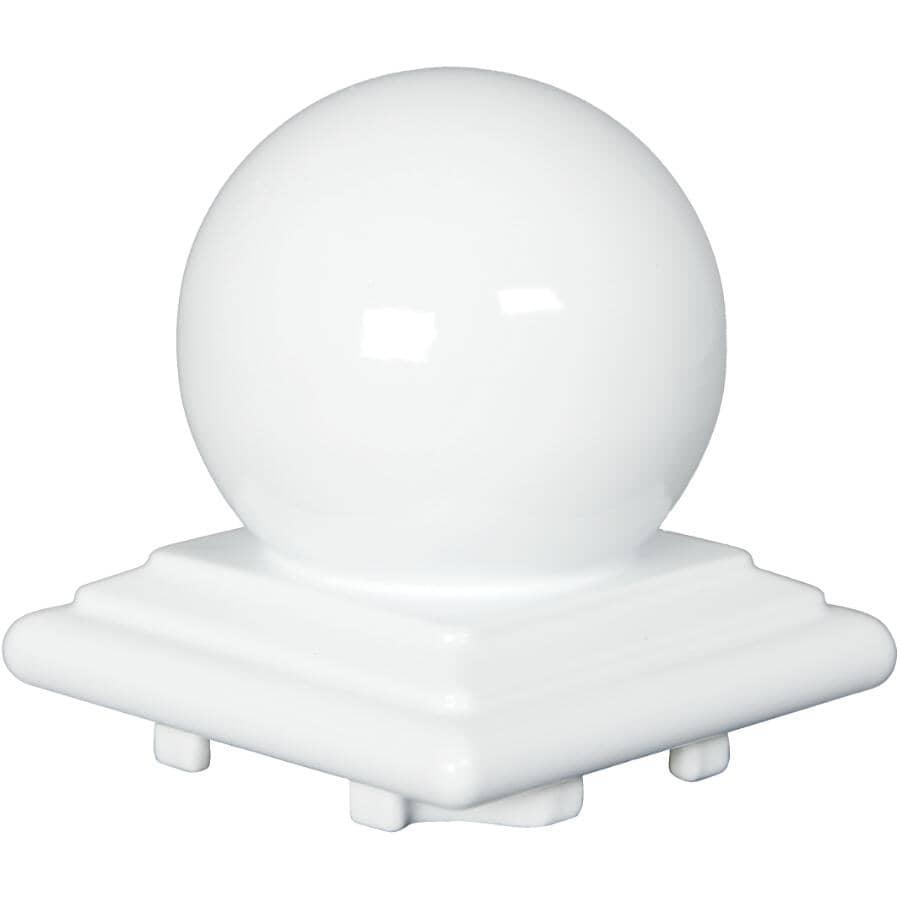 REGAL IDEAS:White Aluminum Ball Railing Post Cap