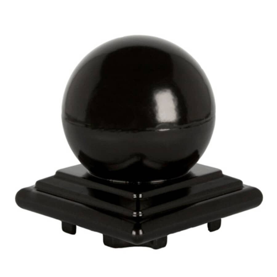 REGAL IDEAS:Black Aluminum Ball Railing Post Cap