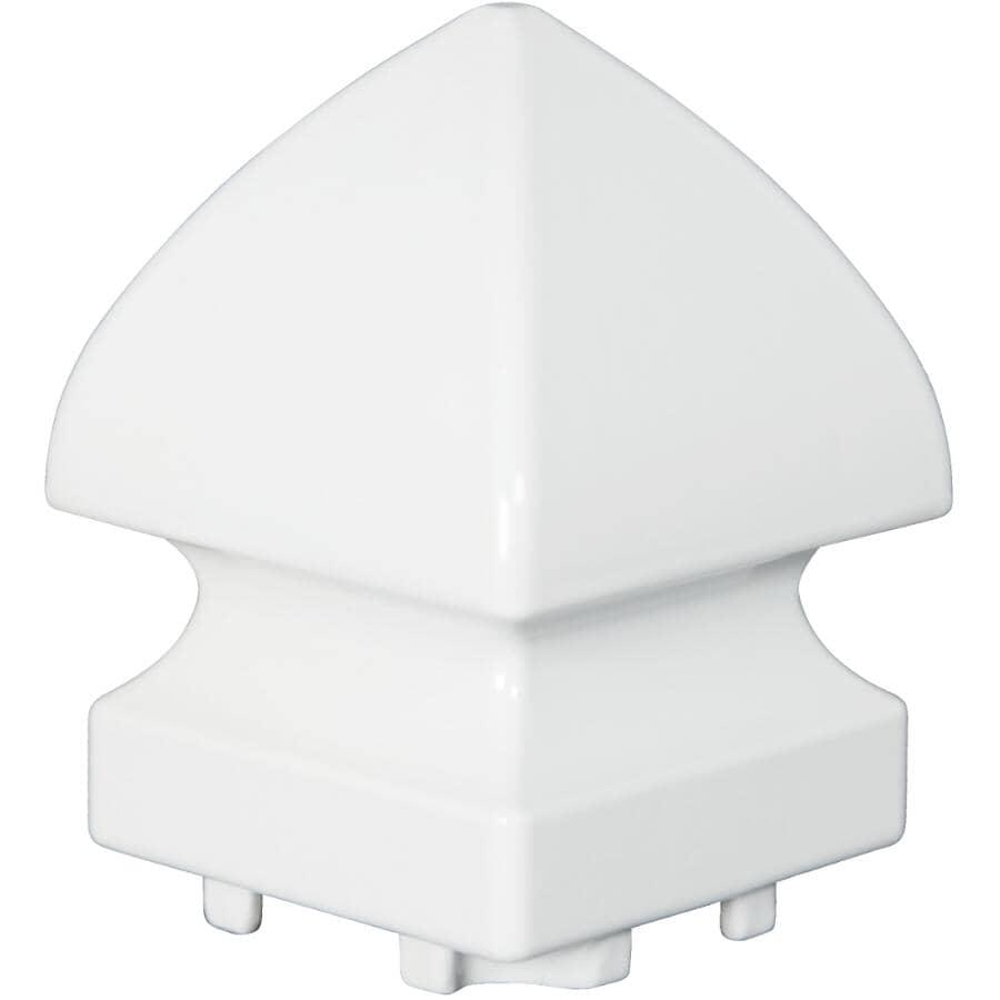 REGAL IDEAS:White Aluminum Pyramid Railing Post Cap