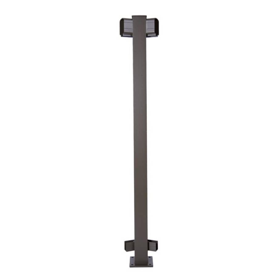 REGAL IDEAS:45 Degree Yard Bronze Aluminum Railing Inline Post