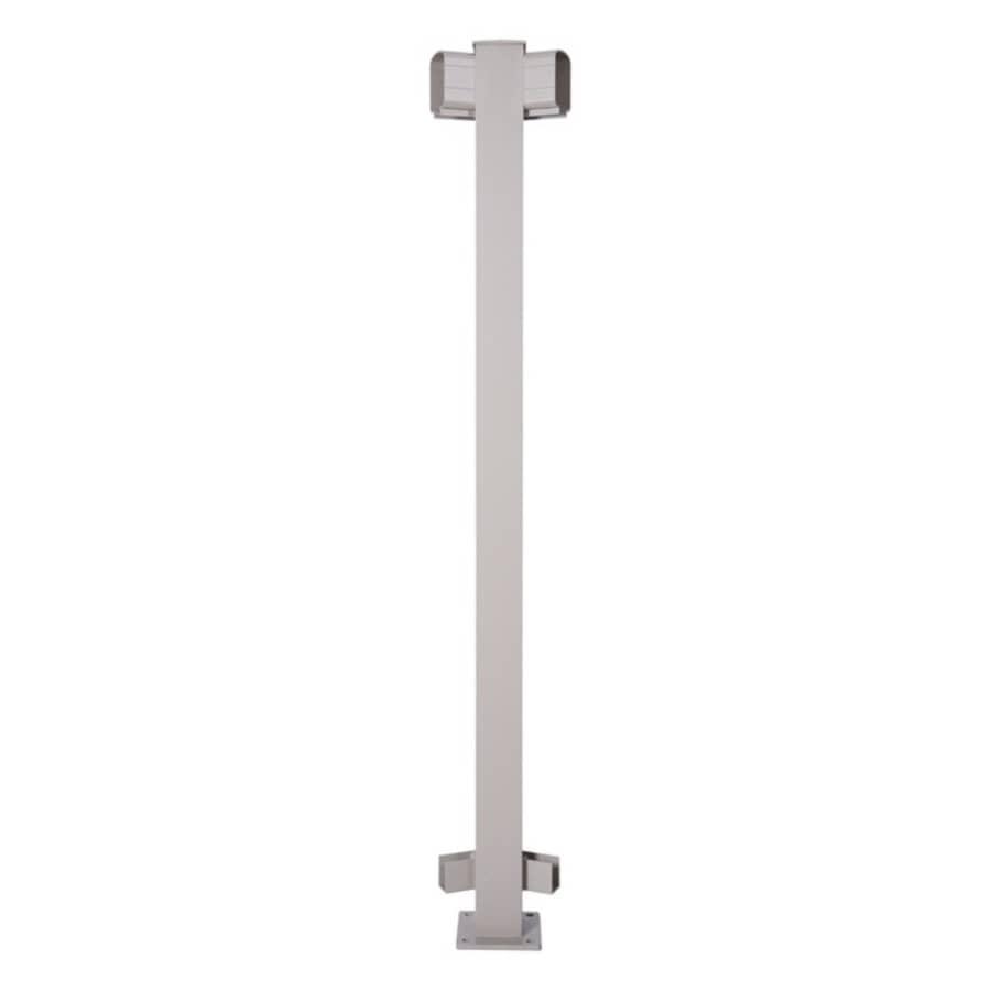 REGAL IDEAS:45 Degree Taupe Aluminum Railing Inline Post