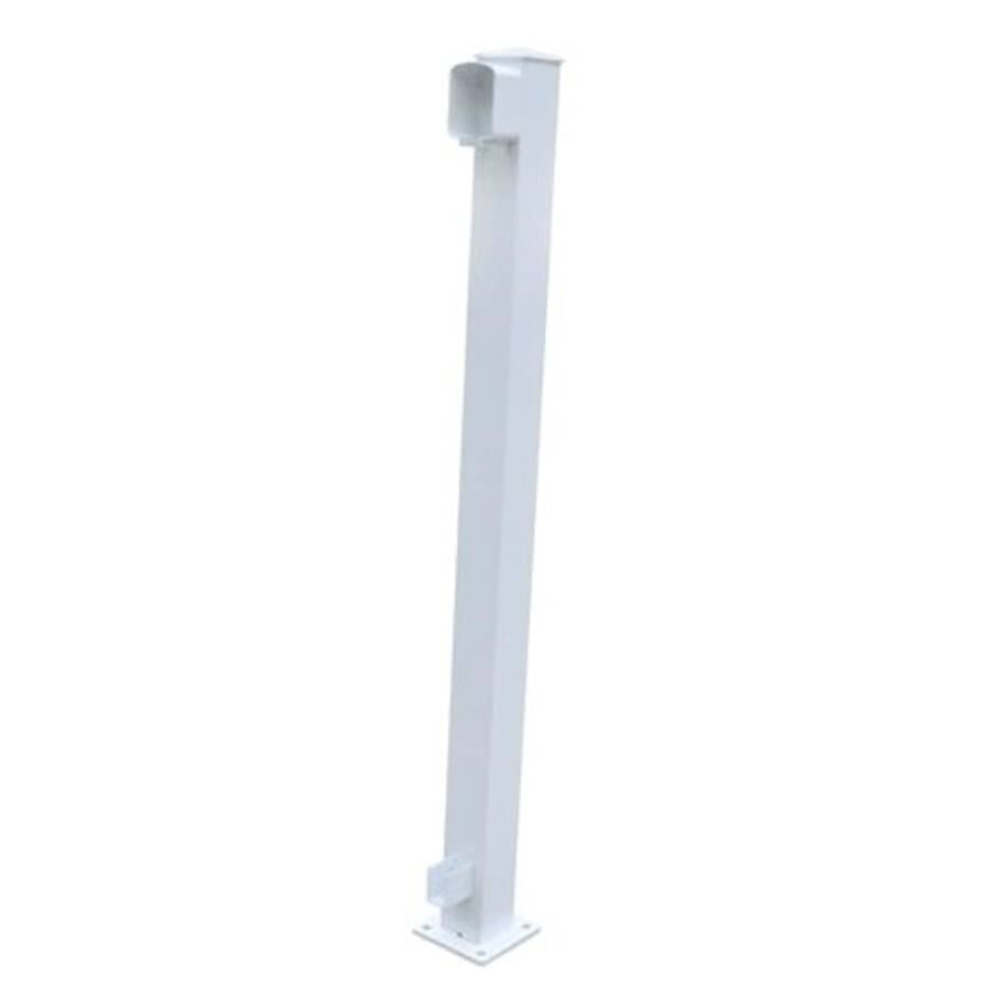 "REGAL IDEAS:36"" White Aluminum End Railing Post"
