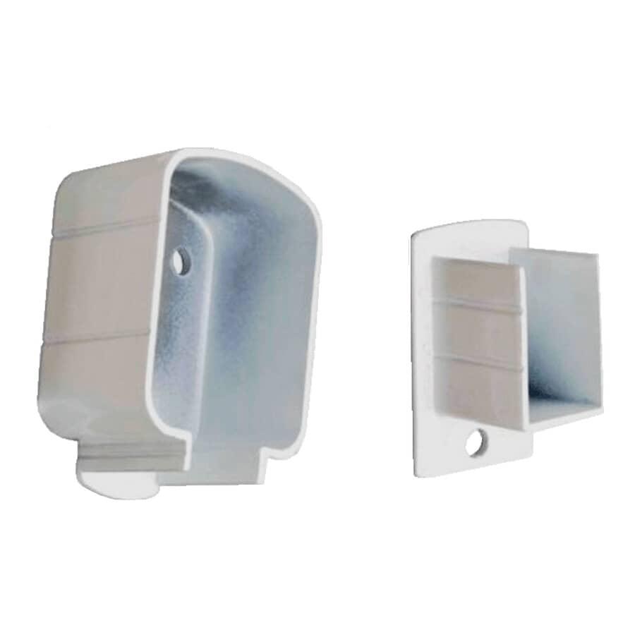 REGAL IDEAS:White Top and Bottom Aluminum Post Bracket