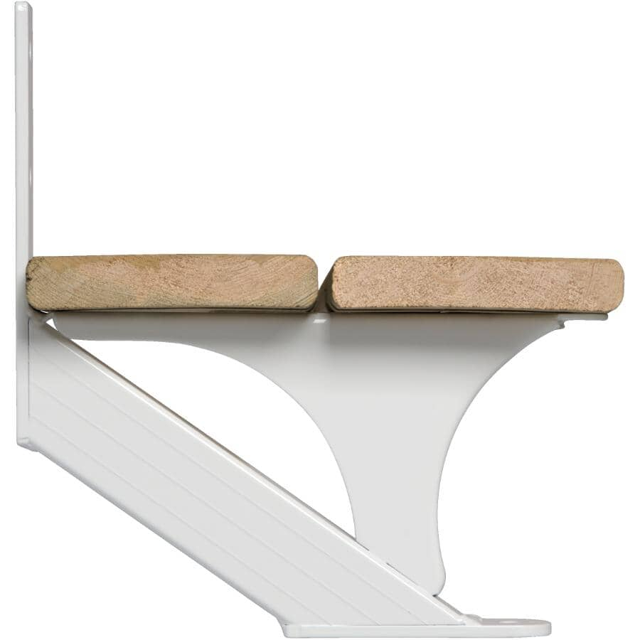 REGAL IDEAS:2 Piece 1 Step White Stair Stringer