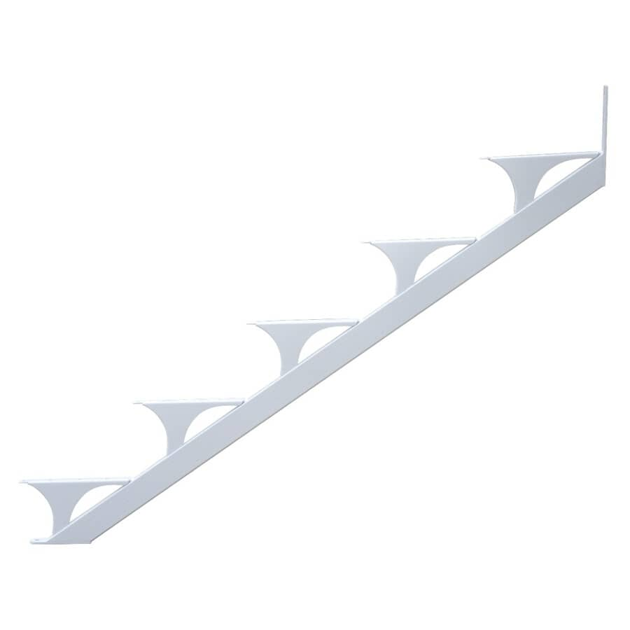 REGAL IDEAS:2 Piece 5 Step White Stair Stringer