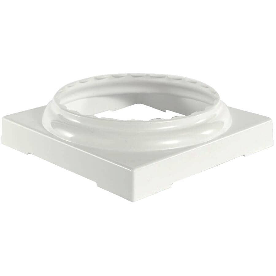 AFCO:Ensemble de capuchon et de base fendus, ronds et cannelés de 6 po en aluminium, blanc