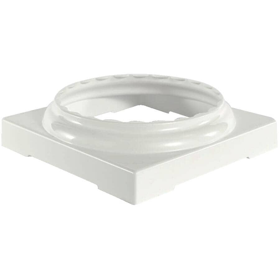 AFCO:Ensemble de capuchon et de base fendus, ronds et cannelés de 8 po en aluminium, blanc
