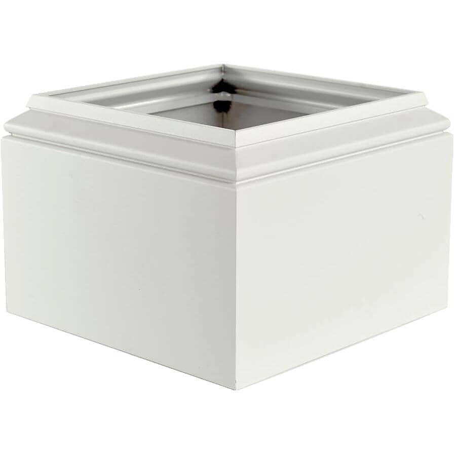 AFCO:Ensemble de capuchon et de base style Natchez carré de 8 po, blanc