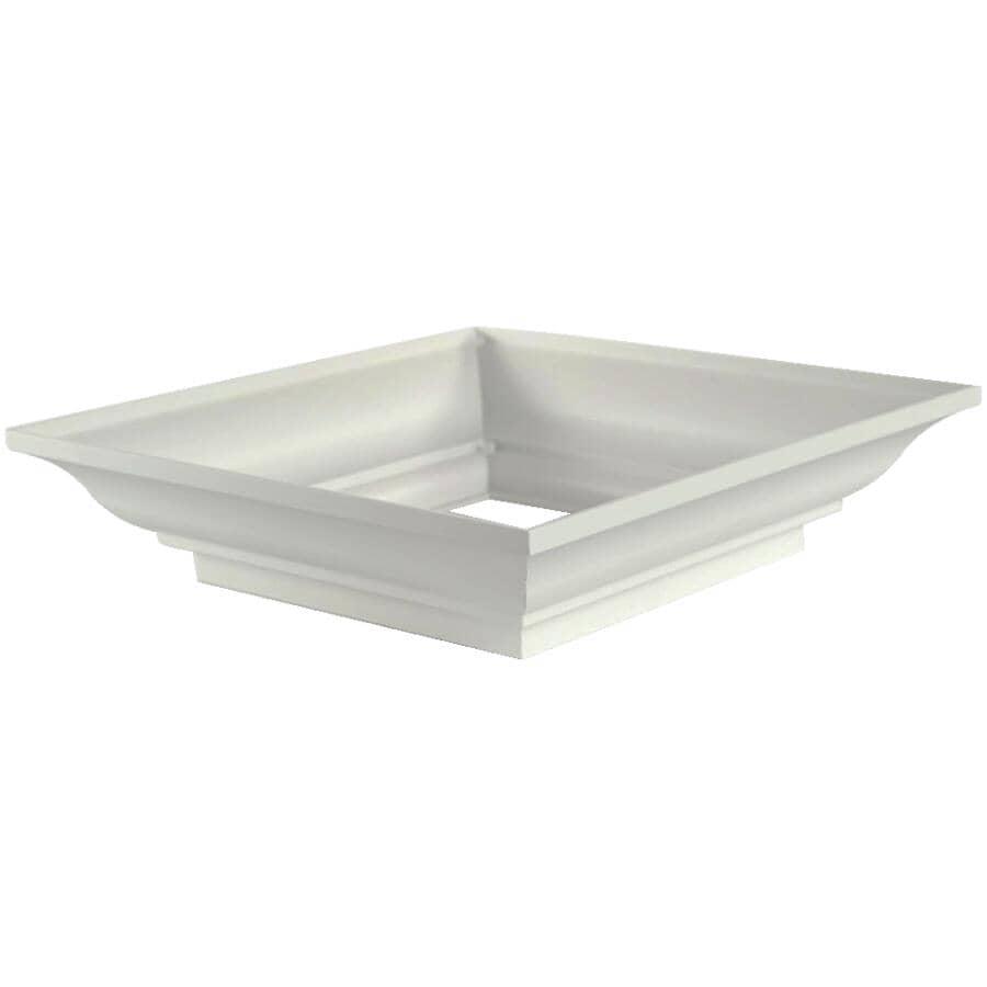 AFCO:Ensemble de capuchon et de base style Wellington carré de 8 po, blanc