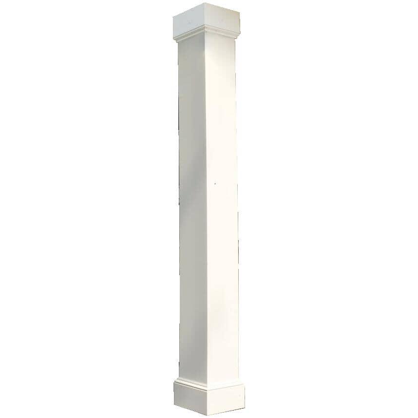 AFCO:Colonne carrée en aluminium lisse de 8 po x 8 pi, blanc