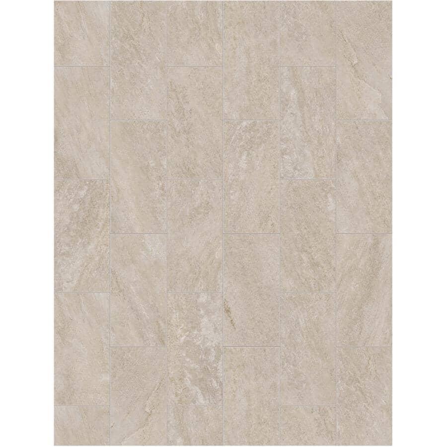 """SHNIER:23.25 sq. ft. 12"""" x 24"""" Sable Touchstone SPC Tile Flooring"""