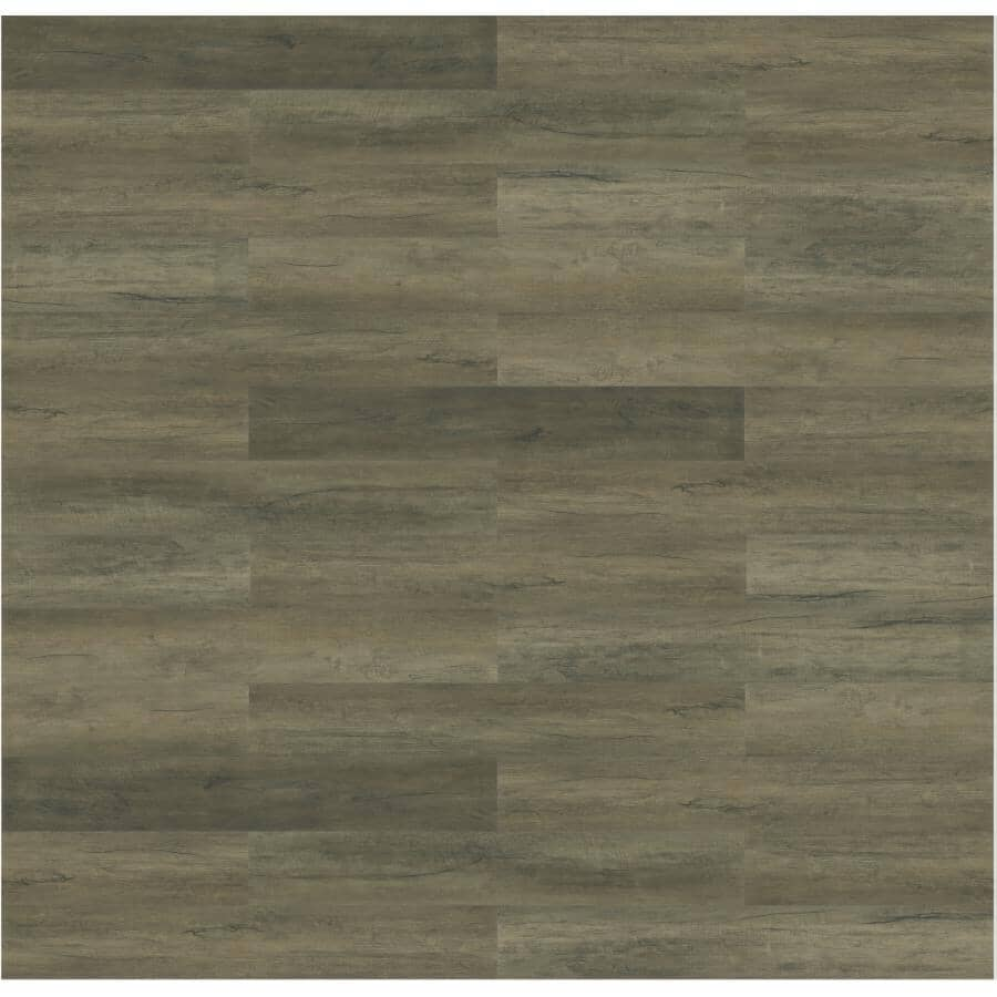 """TAIGA BUILDING PRODUCTS:NinjaXtra Collection 7"""" x 48"""" Rope Ladder SPC Plank Flooring - with Attached IXPE Pad, 23.9 sq. ft."""
