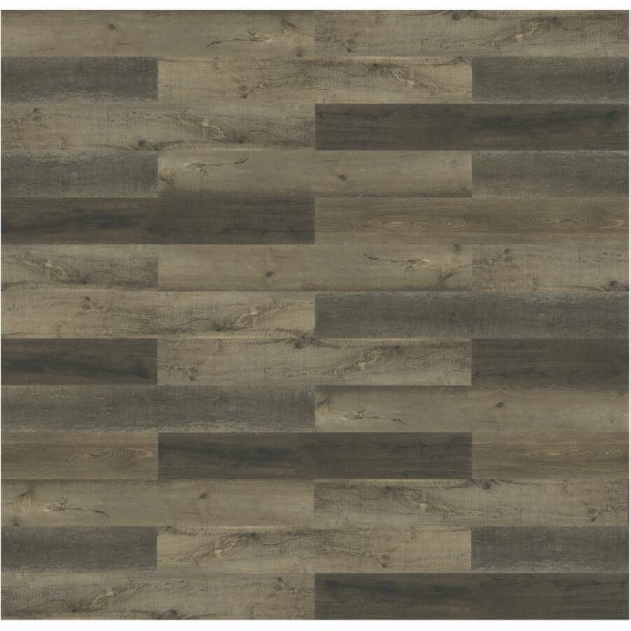 """TAIGA BUILDING PRODUCTS:NinjaXtra Collection 7"""" x 48"""" Banyan SPC Plank Flooring - with Attached IXPE Pad, 23.9 sq. ft."""