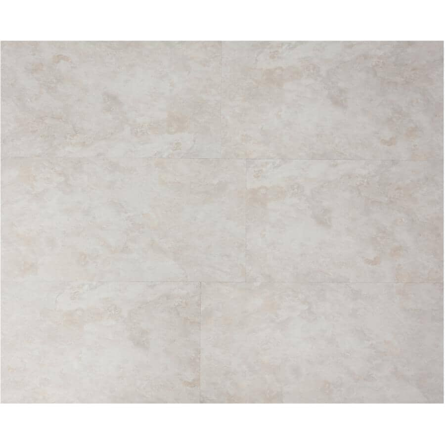 """TAIGA BUILDING PRODUCTS:EasyStreet Collection 12"""" x 24"""" Glow Up SPC Tile Flooring - Sand Castle, 23.24 sq. ft."""