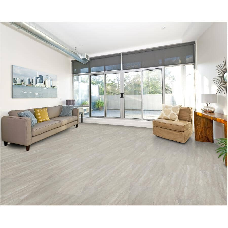 """TAIGA BUILDING PRODUCTS:Stonewear Collection 12"""" x 24"""" SPC Tile Flooring - Silt, 23.25 sq. ft."""