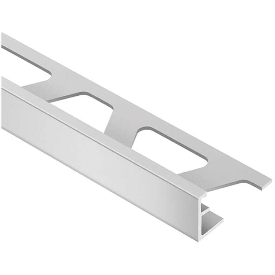 """SCHLUTER SYSTEMS:5/16"""" x 98"""" Satin Aluminum Schiene Tile Edging"""