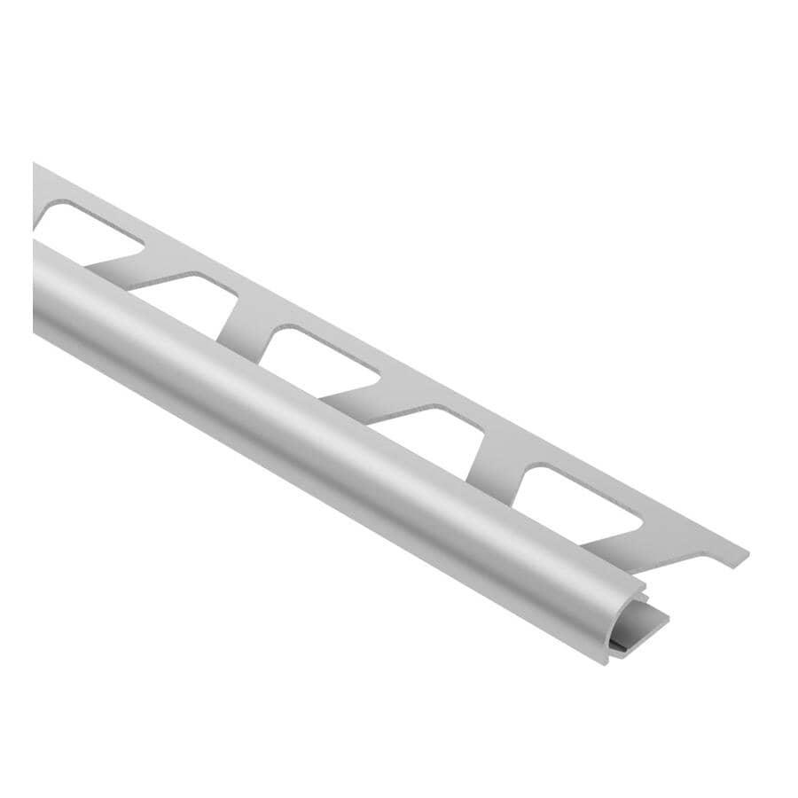 "SCHLUTER SYSTEMS:5/16"" x 96"" Satin Aluminum Rondec Tile Edging"